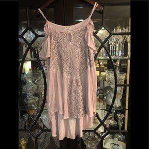 Dusty Pink - Boutique tunic top size medium